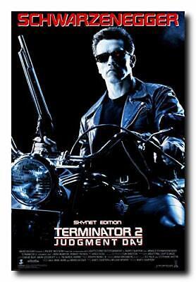 Terminator 2 Judgement Day Movie Poster 24x36 Inch Wall Art Portrait Print