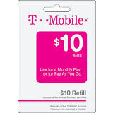 T-Mobile Prepaid $10 Refill. Real Time Reload Directly to Phone. No PIN Needed
