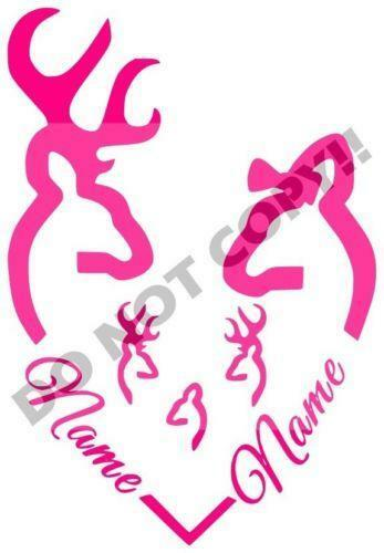 Browning Deer Heart Graphics Decals Ebay