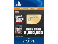 Grand Theft Auto Online: Whale Shark Cash Card $2,500,000 PS4 PSN GTA 5 V Code