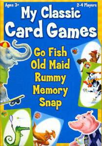CLASSIC CARD GAMES - Go Fish, Old Maid, Rummy, Memory, Snap (NEW