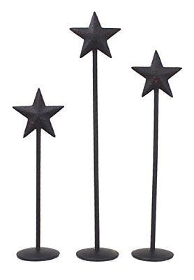- Star Metal Pedestals 3 Piece Set Black Home Decor Living Room Kitchen Bedroom