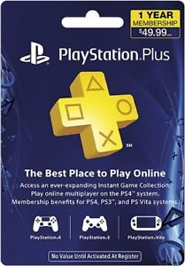Sony PlayStation Plus 12 Month Subscription license