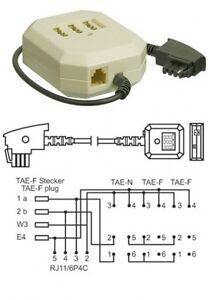 TAE-F NFF VERTEILER DOSE+RJ11 BUCHSE 20cm KABEL TELEFON