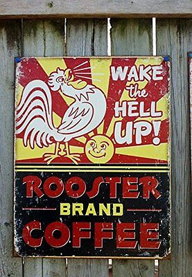 Buy cheap Coffee Retro Tin Sign Vintage Rooster products