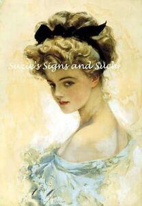 Harrison-Fisher-Fabric-Block-Victorian-Edwardian-Girl