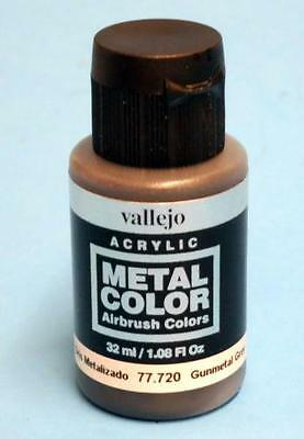 Vallejo Acrylics Metal Color - Gunmetal Grey 32ml VAL (Gunmetal Grey Color)