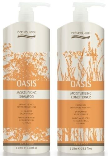 NATURAL LOOK Oasis Moisturising Shampoo & Conditioner Litre Duo