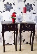 Black French Bedside Table
