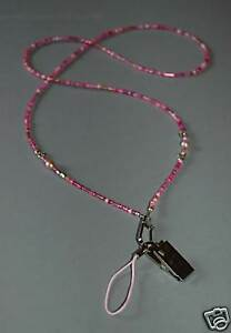 Multi Pink, Dragonfly & Freshwater Pearl Lanyard Pretty Glasses Specatcle Chain