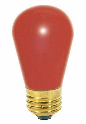 Satco S3961 11 Watt S14 Incandescent 130 Volt Medium Base Light Bulb Ceramic -