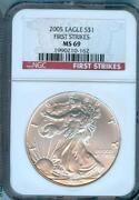 Silver Eagle NGC MS 69 First Strike