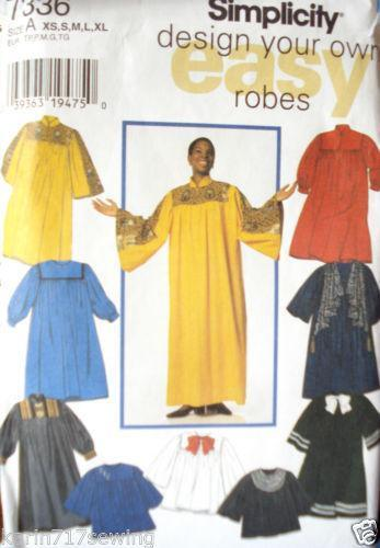 Choir Robe Patterns Ebay