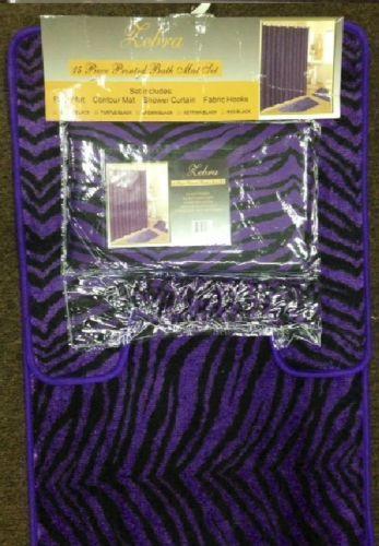Purple Bathroom Rug Set Ebay