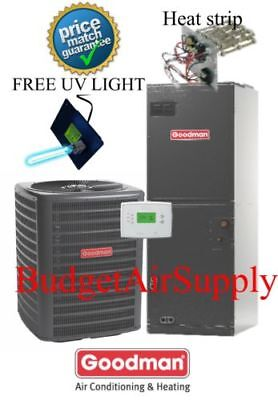 4 ton 14 SEER 410a Goodman A/C System GSX140481+ARUF61D14+UV LIGHT!