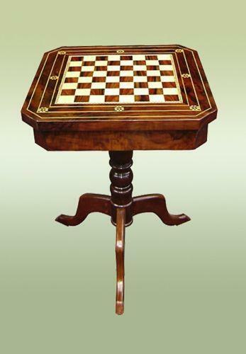 Merveilleux Antique Chess Table | EBay