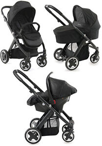 NEW BabyStyle Oyster Pushchair Pram and Car Seat in Black on Black Chassis