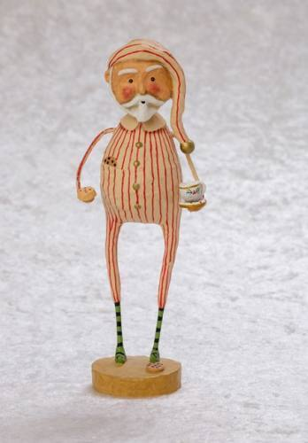LORI MITCHELL ~ Late Night Snack ~ Christmas Santa Figurine ~ Free Shipping