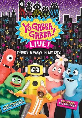 NEW~YO GABBA GABBA~Live!~There's A Party In My City!~Biz Markie!~Live Nokia~DVD - Party City Yo Gabba Gabba