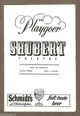 """Jule Styne """"SUBWAYS ARE FOR SLEEPING"""" Carol Lawrence 1961 Tryout Playbill"""