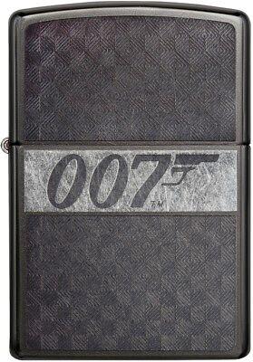 Zippo Choice James Bond 007 Collection Engraved Chrome Lighter Grey Dusk 29564