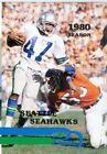 Football Pocket Seattle Seahawks Vintage Sports Schedules