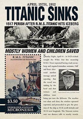 Micronesia 2012 - R.M.S. 100th Anniversary Titanic - Souvenir Sheet MNH