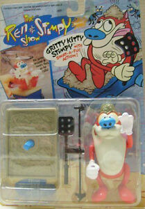 1993 Mattel The Ren & Stimpy Show Gritty Kitty Stimpy Figure