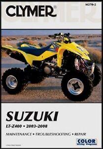 CLYMER SERVICE REPAIR MANUAL SUZUKI LT-Z 400 QUAD SPORT 2003-2008 2004 2005 2006