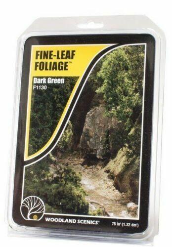 Woodland Scenics ~ New 2020 ~ Fine-Leaf Foliage Dark Green ~ F1130