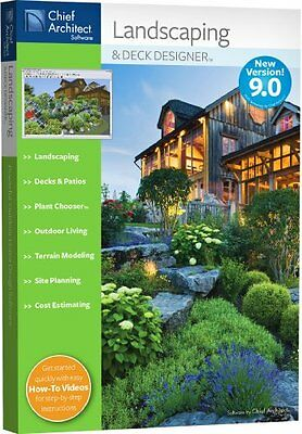 Chief Architect Landscaping and Deck Designer 9.0 9 PC New in Box Landscaping Deck Designer