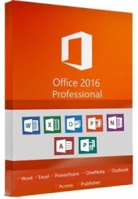 Microsoft Office 2016 Professional Plus ? Key mit GRATIS Installation DVD