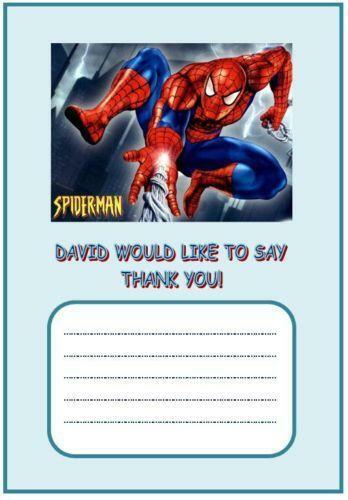 Spiderman Thank You Cards Ebay