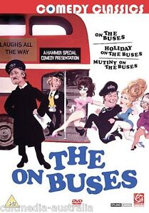 ON THE BUSES 1 + 2 + 3 THE COMPLETE FILMS COLLECTION NEW 3 MOVIES 2 DVD BOXSET