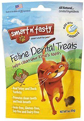 Smart N Tasty Grain Free Turducky All Natural Feline Dental Treats For Cats 3oz