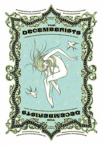 Tara McPherson The Decemberists Silkscreen Poster 2006 The Gorge