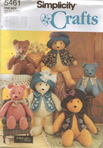 Teddy Bear Sewing Pattern Ebay