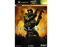 4 Microsoft Xbox Games Halo 2, SWAT, Without Warning & Splinter Cell.