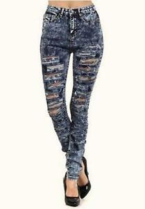 Womens Distressed Jeans | eBay