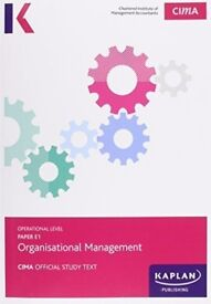 CIMA E1 Organisational Management Study Text Book Paperback
