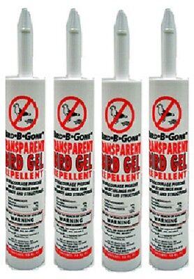 (4) ea Bird B Gone MMTBG-TUBE 10 oz Transparent Bird Repellent Sticky Gel