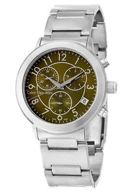 Calvin Klein Jeans K8717150 Continual Chronograph Silver Tone Men's Watch (Ck Mens Watches Jean)