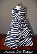 American Girl Doll Zebra Dress
