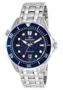 Mens Stainless Steel Blue Dial Watch