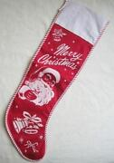 Vintage Felt Christmas Stocking