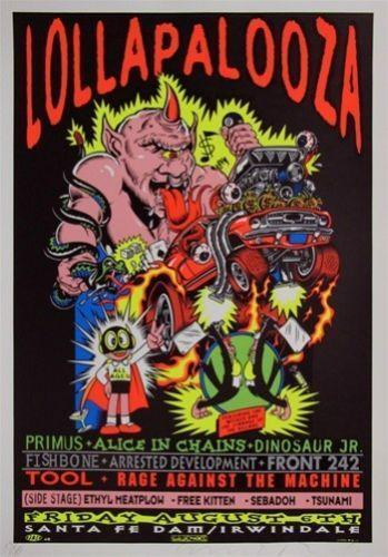 Lollapalooza poster ebay for Classic 90 s house music list