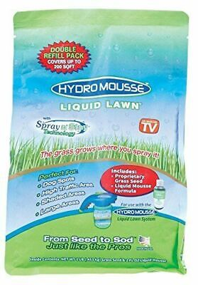 Liquid Lawn Refill Hydro Mousse Fescue Grass Seed 2Lb Up to 400sqft Spray N Stay