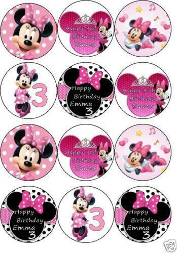 Minnie Mouse Face Cake Topper