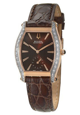 NEW Accutron Bulova 65R106 Saleya Rose Gold Tone  Diamond Watch $950 GREAT GIFT
