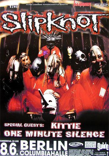 Slipknot Kittie 2000 Berlin Germany Concert Poster Corey Taylor Joey Jordison